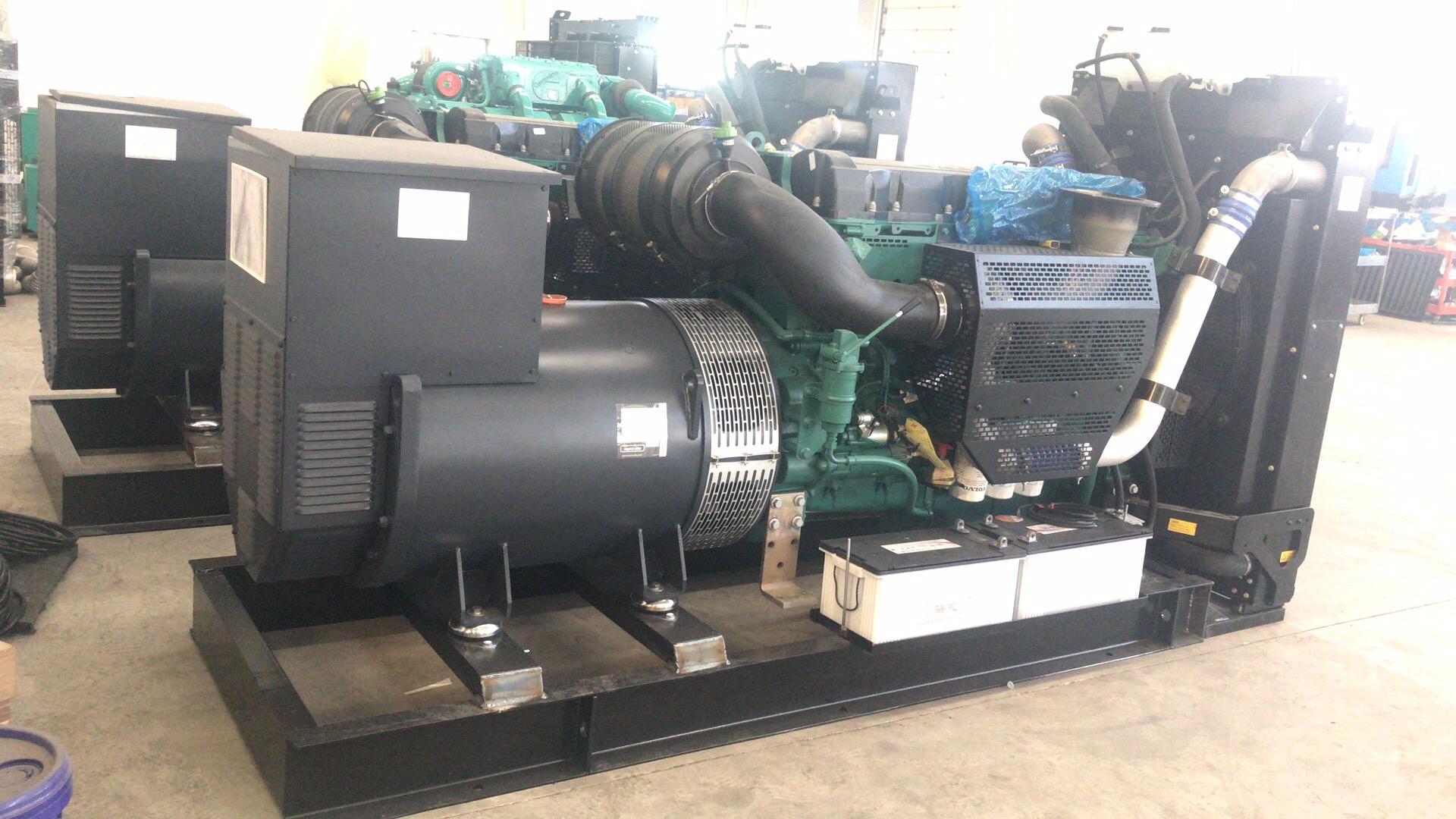 2台沃尔沃柴油发电机组已完工,待出厂检测