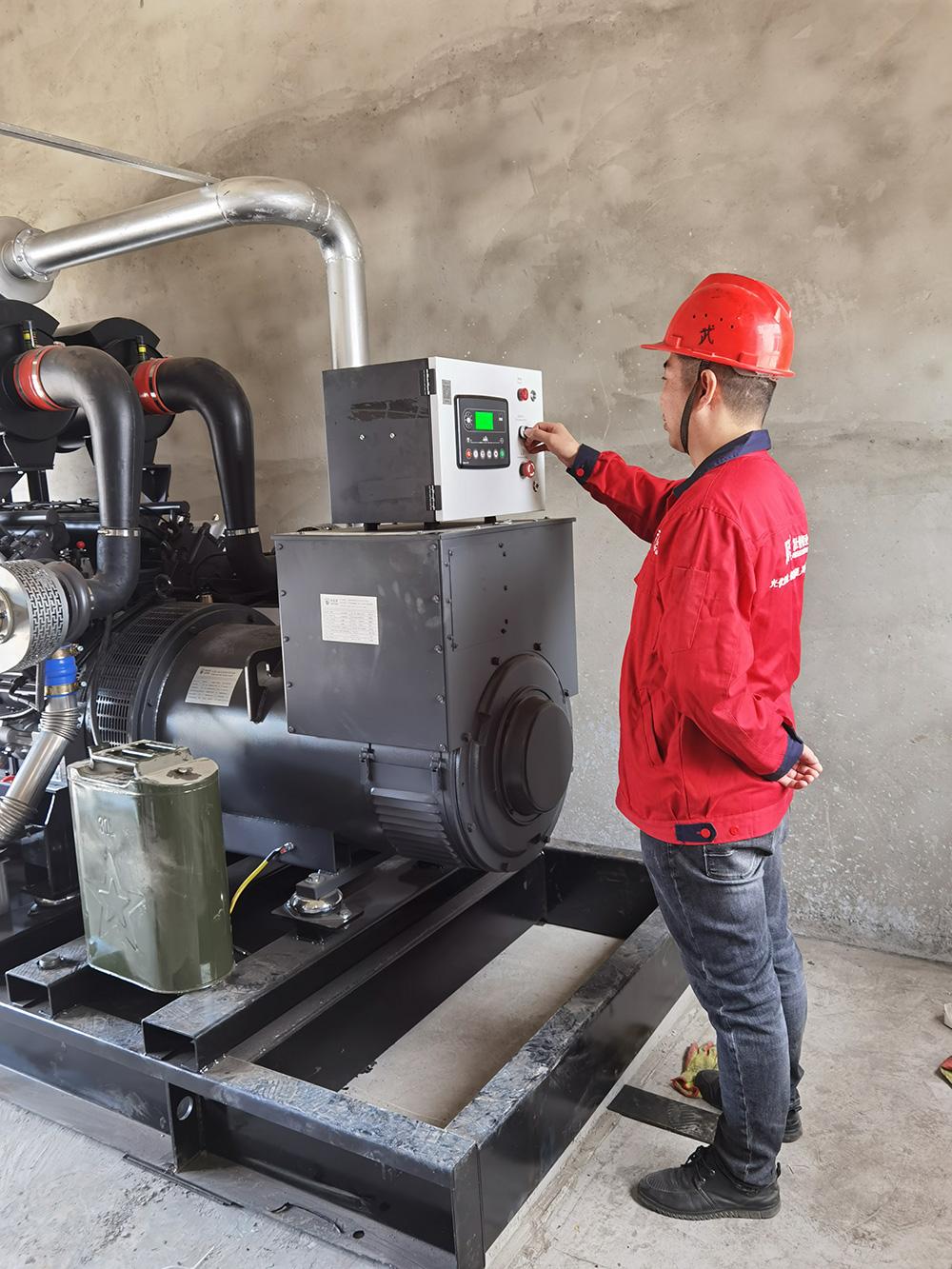 安徽富士特铝业,柴油发电机组安装调试结束